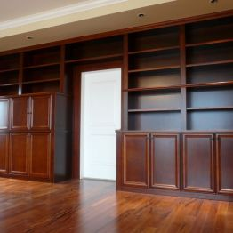 library_with_wet_bar_in_golden_maple_finish